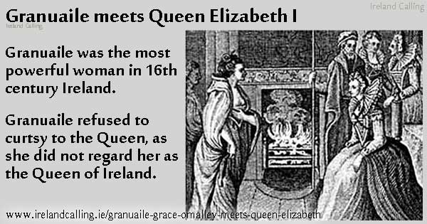 Grace O'Malley and Queen Elizabeth. Image copyright Ireland Calling