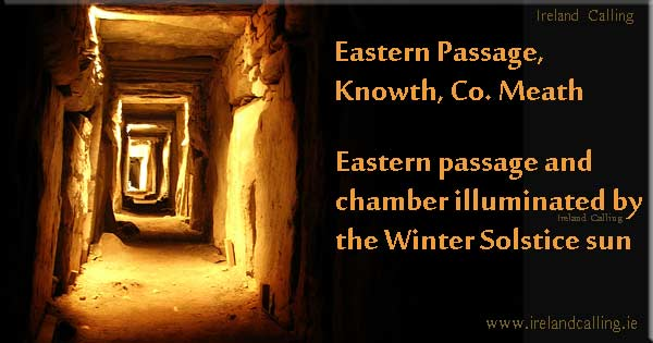 The Winter Solstice sun at Newgrange Chamber photo Przsak CC3