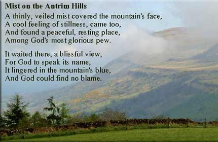 Lynn Brown was inspired to write this poem Mist on the Antrim Hills for Patrick McNulty photo