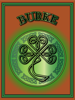 History of the Irish name Burke. Image copyright Ireland Calling