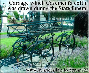 The Carriage on which Casement's coffin was drawn during State funeral