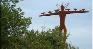 Image of the Roadside Goddess in Galway, Ireland. Copyright Ireland clling