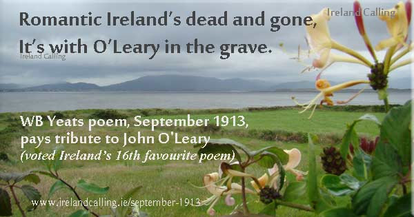 september 1913 and easter 1916 poem Practice essay questions for yeats after each question, the exam paper will include the following sentence: in your answer, explore the effects of language, imagery and verse form, and consider how the poem relates to other poems by.