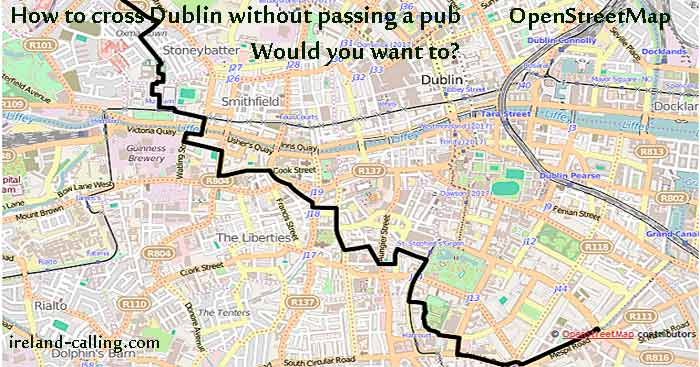 How to cross Dublin without passing a pub James Joyce ireland-calling.com