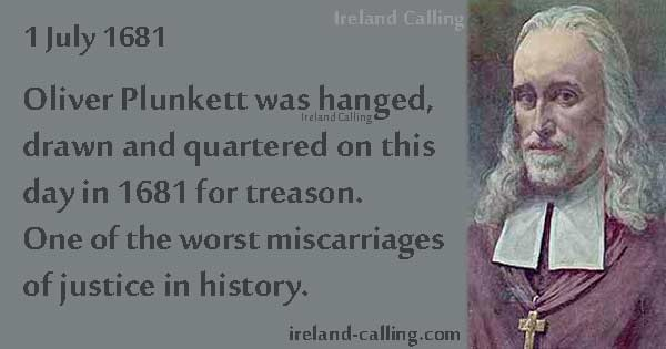 Oliver Plunkett – executed after a plot and later named a saint