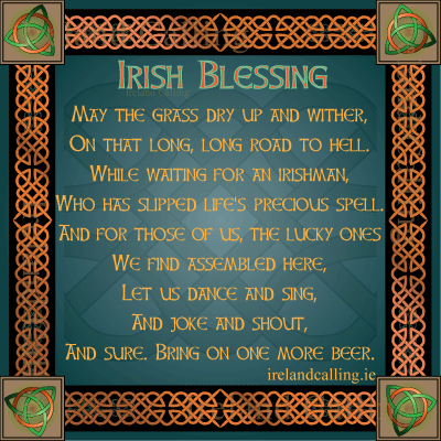 Irish Blessing. Image copyright Ireland Calling