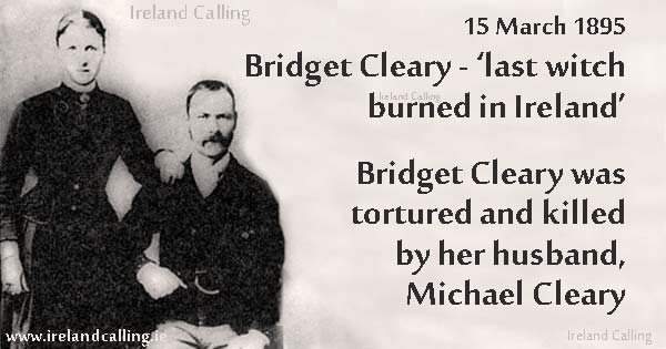Bridget Cleary. Last witch burned in Ireland. Image copyright Ireland Calling