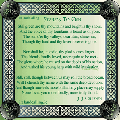 Stanzas to Erin. Image copyright Ireland Calling