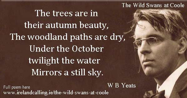 WB Yeats quote. Image copyright Ireland Calling