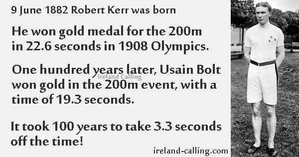 Bobby_Kerr Olympic Gold medalist for 200m Image copyright Ireland Calling