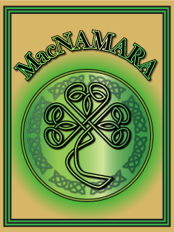 History of the Irish name MacNamara. Image copyright Ireland Calling