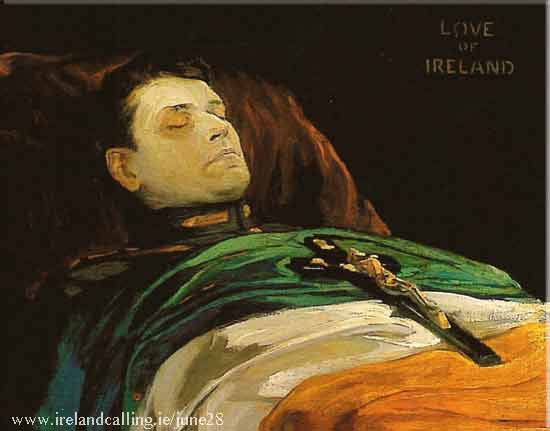 Michael Collins. The Easter Rising love of Ireland