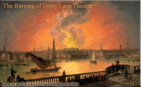 The Burning of Drury Lane Theatre from Westminster Bridge