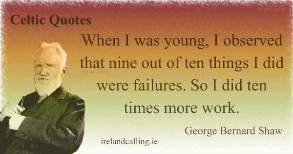 George Bernard Shaw quote. Image copyright Ireland Calling