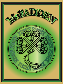 History of the Irish name McFadden. Image copyright Ireland Calling