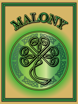 History of the Irish name Malony. Image copyright Ireland Calling