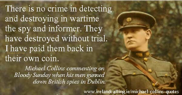 Spy Quote: Quotes From Irishman Michael Collins