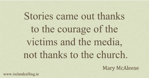 Mary McAleese quote. Image Copyright -Ireland Calling