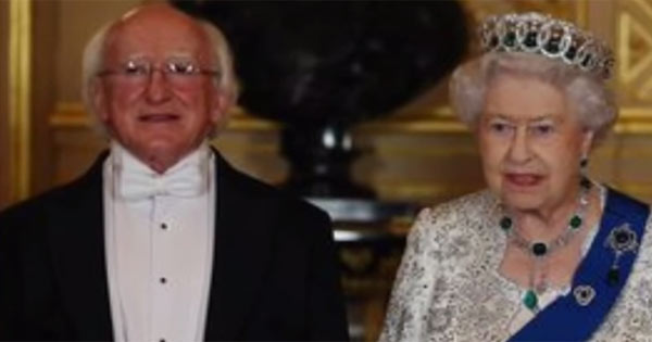 Queen Elizabeth II and Irish President Michael Higgins