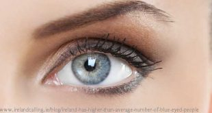 Ireland has higher than average number of blue-eyed people
