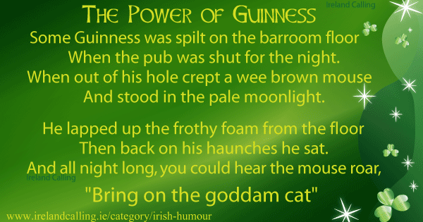 The Power of Guinness. Image copyright Ireland Calling