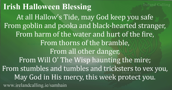 Irish Halloween blessing Image copyright Ireland Calling