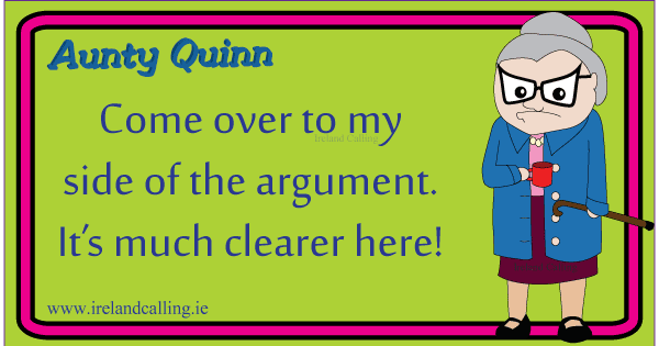 Irish jokes about arguments. Image copyright Ireland Calling