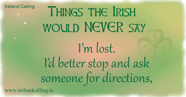 Irish jokes on confusion. Image copyright Ireland Calling