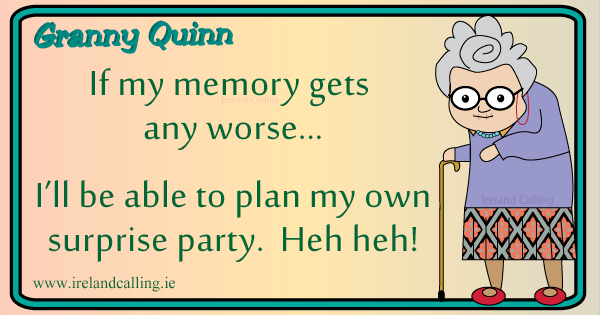 Irish joke on getting old. Image copyright Ireland Calling