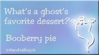 Halloween jokes. Image copyright Ireland Calling