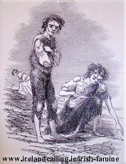 Irish Famine sufferers