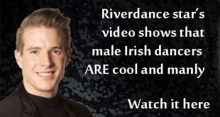 Irish dancers shows off manliness