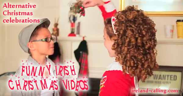 Funny Irish Christmas videos. Image copyright Ireland Calling