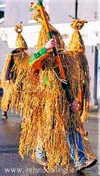 Irish Christmas traditions. Wren Boys Procession. Image copyright Ireland Calling