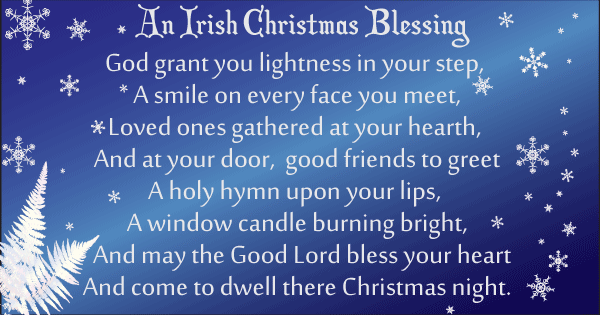 Irish blessing. God grant your lightness in your step. Image copyright Ireland Calling