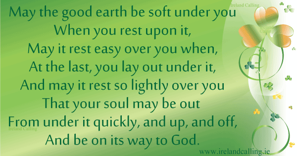 Irish poems and blessings for funerals ireland calling irish funeral poem may the good earth be soft under you image copyright ireland m4hsunfo