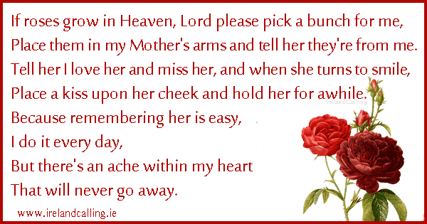 Irish poems and blessings for funerals ireland calling irish funeral poem if roses grow in heaven image copyright ireland calling m4hsunfo