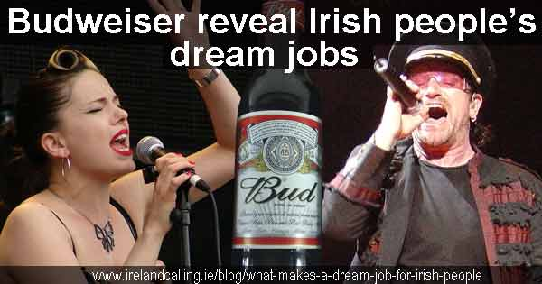 What do Irish people say is their dream job?