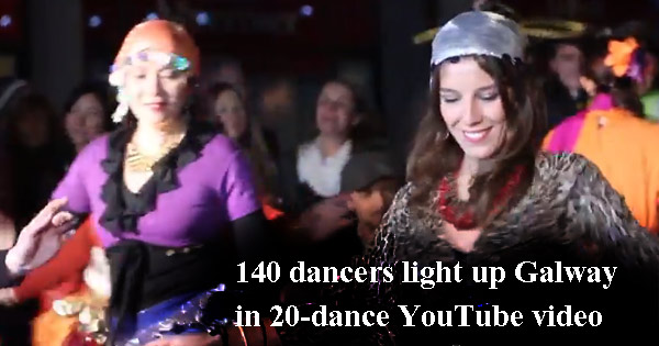140 dancers, 4 minutes, 20 different dances – WOW! Galway lights up!