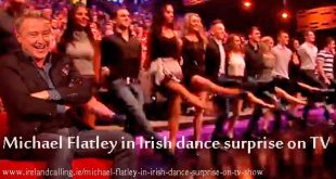 Michael Flatley in Irish dance surprise on TV