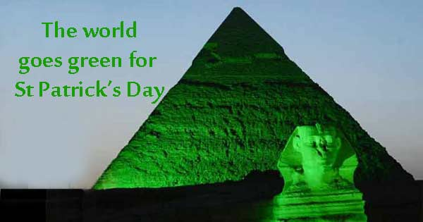 World goes green for St Patrick's Day
