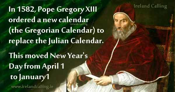 Pope Gregory XIII. Image Copyright - Ireland Calling