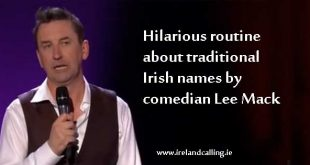 Brilliant routine on Irish names by comedian Lee Mack