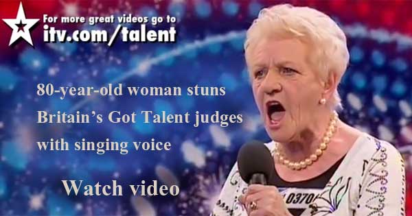 Stunning Britain's Got Talent performance from 80-year-old woman