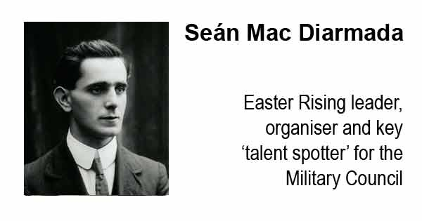 Easter Rising leader and organiser and key 'talent spotter' for the Military Council