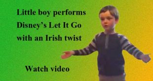 Another cute kid singing Let It Go? This one has an Irish twist