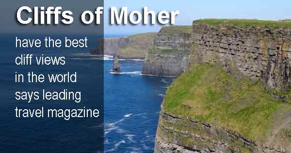 Cliffs of Moher have the best cliff views in the world says leading travel magazine