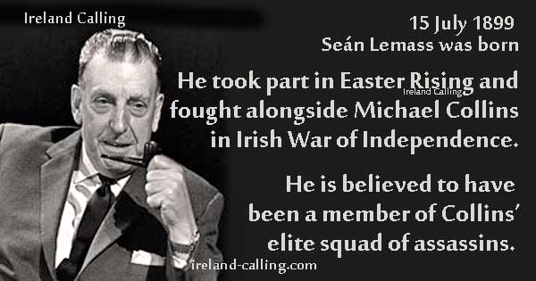 Sean Lemass was a member of Michael Collins elite squad in the Irish War of Independence. Image copyright Ireland Calling