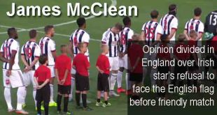 James McClean - Opinion divided in England over Irish star's refusal to face the English flag before friendly match