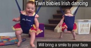 Twin babies Irish dancing - will bring a smile to your face